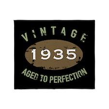 Vintage 1935 Birthday Throw Blanket