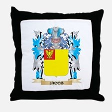 Jacob Coat of Arms - Family Crest Throw Pillow