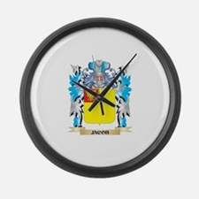 Jacob Coat of Arms - Family Crest Large Wall Clock