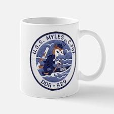 USS MYLES C. FOX Small Small Mug