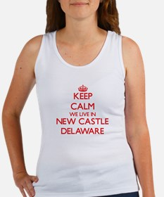 Keep calm we live in New Castle Delaware Tank Top