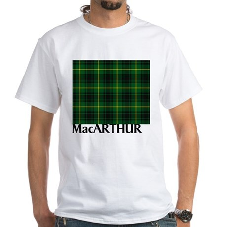 MacArthur Tartan White T-Shirt