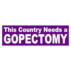 GOPectomy bumper sticker