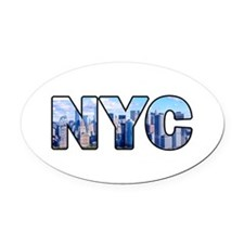 New York City (NYC) Oval Car Magnet