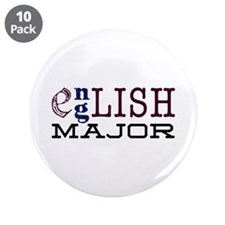 """English Major 3.5"""" Button (10 pack)"""