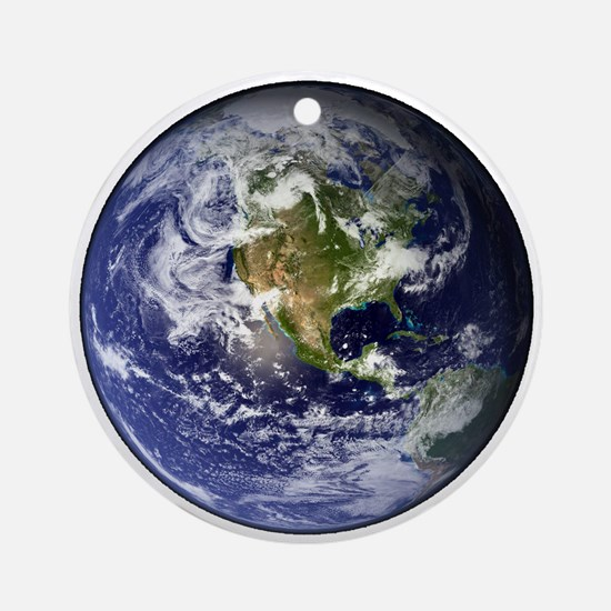 earthWesternFull.png Ornament (Round)