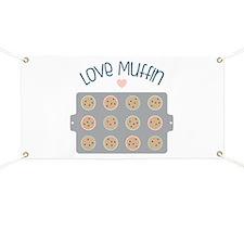 Muffin Baking Pan Love Banner