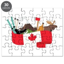 Canada Country Flag Banner Montage Puzzle