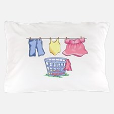 LAUNDRY MONTAGE Pillow Case