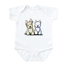 KiniArt Terrier Duo Infant Bodysuit