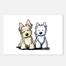 KiniArt Terrier Duo Postcards (Package of 8)