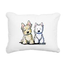 KiniArt Terrier Duo Rectangular Canvas Pillow