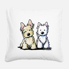 KiniArt Terrier Duo Square Canvas Pillow