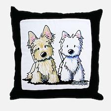 KiniArt Terrier Duo Throw Pillow