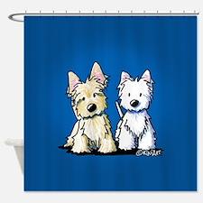 KiniArt Terrier Duo Shower Curtain