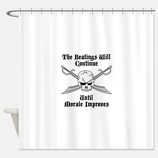 Morale Shower Curtain
