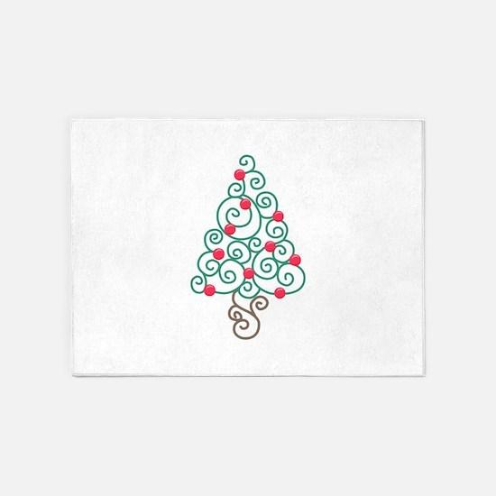 CHRISTMAS TREE 5'x7'Area Rug