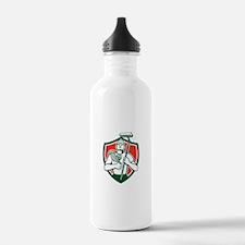 High Rise Window Cleaner Shield Retro Water Bottle