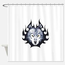 WOLF HEAD MEDIUM Shower Curtain