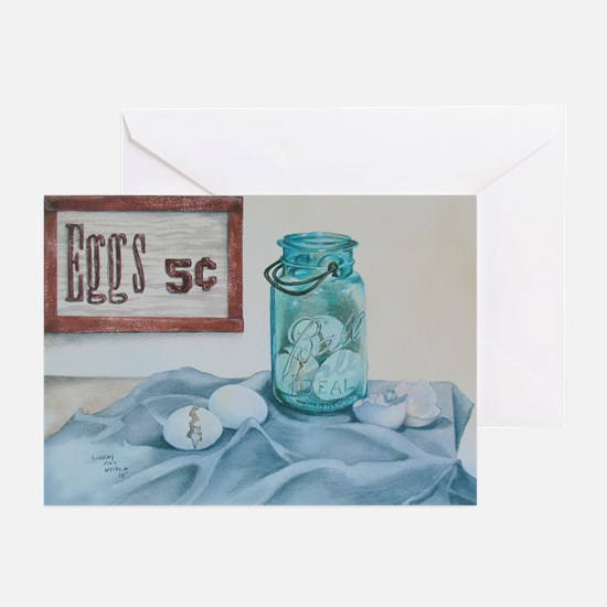 Eggs 5 cents Greeting Cards (Pk of 10)