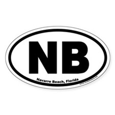 Navarre Beach, Florida Oval Decal