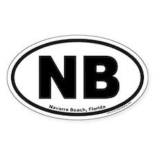 Navarre Beach, Florida Oval Stickers