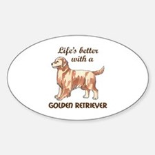 BETTER WITH RETRIEVER Bumper Stickers