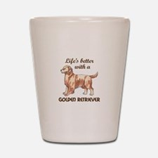 BETTER WITH RETRIEVER Shot Glass