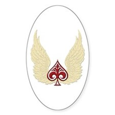 Wing Spade Oval Decal