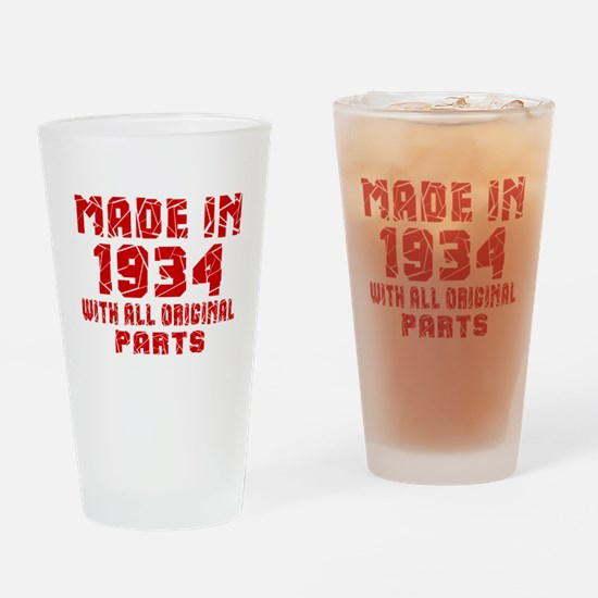 Made In 1934 With All Original Part Drinking Glass