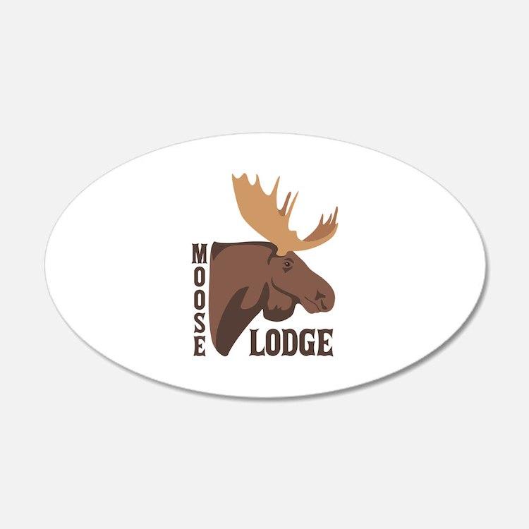 Moose Lodge Head Wall Decal