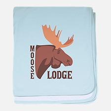 Moose Lodge Head baby blanket