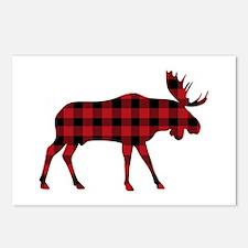 Plaid Moose Animal Silhouette Postcards (Package o