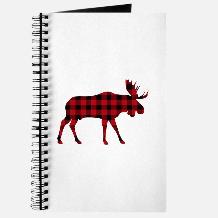 Plaid Moose Animal Silhouette Journal