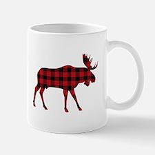 Plaid Moose Animal Silhouette Mugs