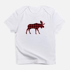Plaid Moose Animal Silhouette Infant T-Shirt