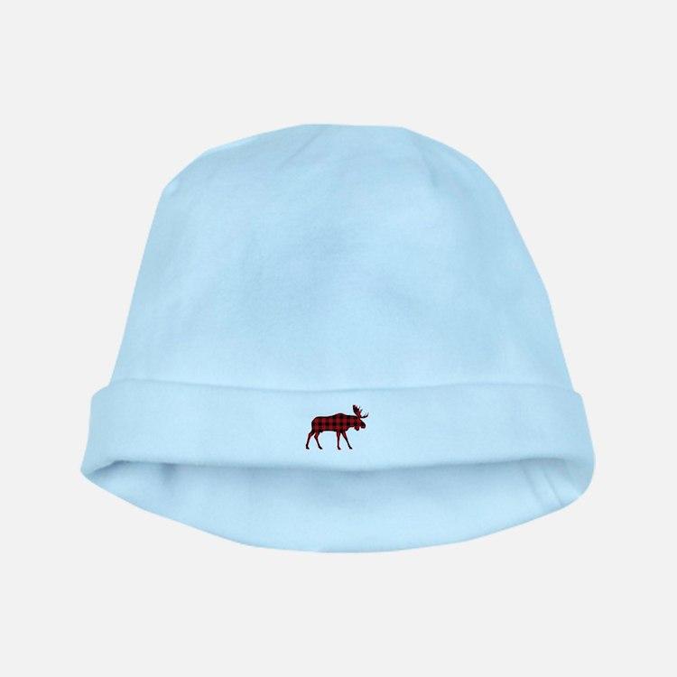 Plaid Moose Animal Silhouette baby hat