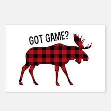 Plaid Moose Animal Silhouette Game Postcards (Pack