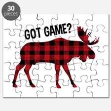 Plaid Moose Animal Silhouette Game Puzzle