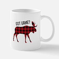 Plaid Moose Animal Silhouette Game Mugs