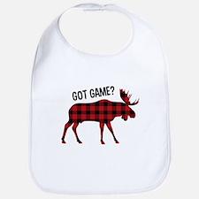 Plaid Moose Animal Silhouette Game Bib