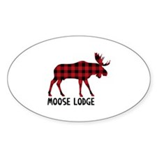 Plaid Moose Animal Silhouette Lodge Decal