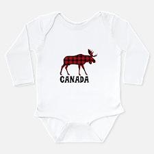 Plaid Moose Animal Silhouette Canada Body Suit