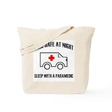 Cute Feel safe at night sleep with a nurse Tote Bag