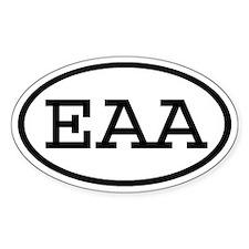 EAA Oval Oval Decal