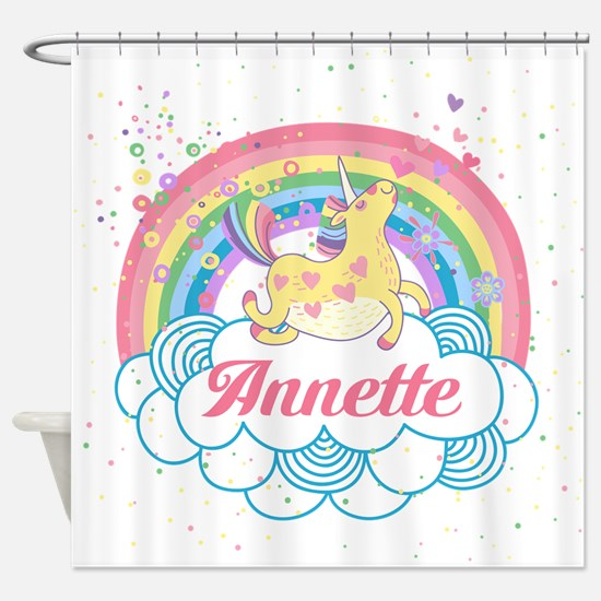 Unicorn And Rainbow Shower Curtain