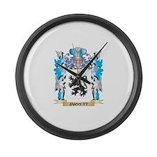 Jarrett Coat of Arms - Family Cre Large Wall Clock
