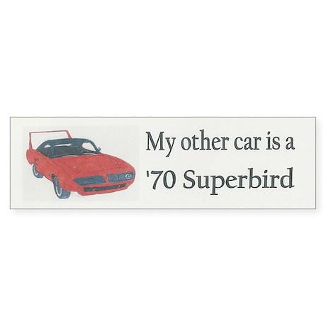 '70 Superbird Bumper Sticker