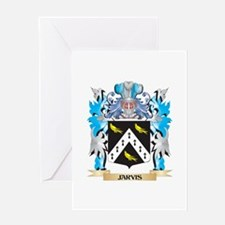 Jarvis Coat of Arms - Family Crest Greeting Cards