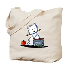 Back To School Westie Tote Bag